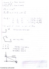 moment of force, cross product, and moment of a scalar notes