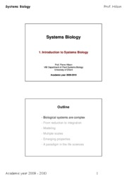 Systems_Biology_2009_Lesson_1