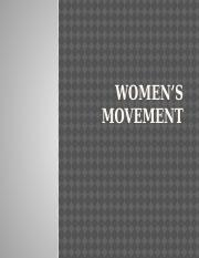 Week 2 PowerPoint Lecture-Women's Movement.pptx
