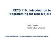 Lecture 1_Introduction to Programming for Non-Majors
