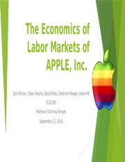 The Economics of Labor Markets of APPLE
