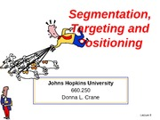 Lecture 8 Segmentation, Targeting and Positioning