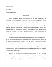 Assignment reflection Essay