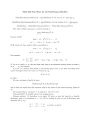 MATH 340 Final Exam Review Notes