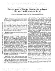 Determinants of Capital Structure in Malaysia Electrical and Electronic Sector.pdf