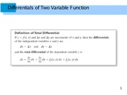 Differentials of Two Variable Function
