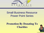 SMV Mini Series - Promotion by donating to charities