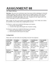 Report Writing Assignment 8