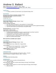 Andrew Resume for Tech Writing