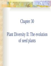 Chapter 30 Plant Diversity II(1)