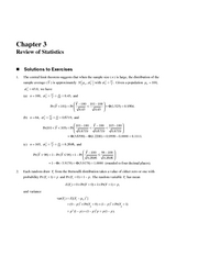 Solutions Stock and Watson - Chapter 03 - Econometrics