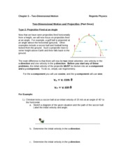 projectile notes 2