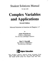 Solution Manual of Complex Variable and Application (2)