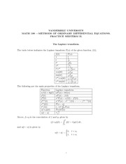 Math 198_Exam Solutions on Laplace Transform and Power Series
