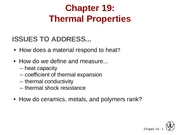 Chapter 19- Thermal Properties