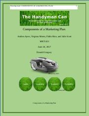 THE COMPONENTS OF A MARKETING PLAN Part 1.docx