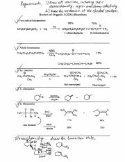 Review of Organic I Reactions