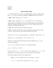 Exam #2 Solution Outline - Extra