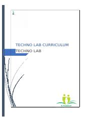 Techno Lab Curriculum