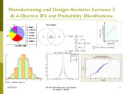 Statistics Lecture 3 and 4-Discrete RV and Distributions