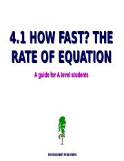 4.1 the rate of equation.ppt