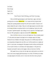 JOEY- RUGBY ESSAY