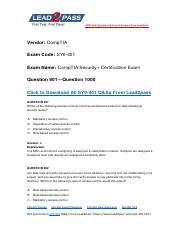 Updated Lead2pass CompTIA SY0-401 Braindump Free Download (901-end).pdf