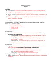 Chapter 16 Outline Financial Management.docx