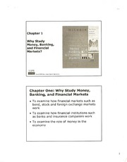 Ch. 1 Notes (BUS G-345; Money, Banking; and Capital Markets; Self)