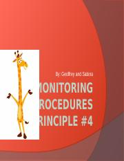 Monitoring procedures