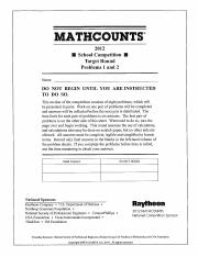 201617 mathcounts handbook answer keys answers in addition to the 201617 mathcounts handbook answer keys answers in addition to the answer we have provided a difficulty rating for each problem our scale is 1 7 with 7 fandeluxe Images