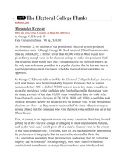 Electoral College Article -- Con