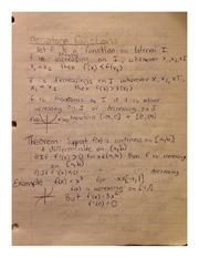 Monotone Functions MATH 181