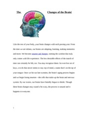 Anatomy Brain Changes Project