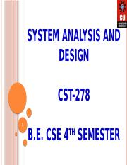 System Analyst Sdlc Documentation Pptx System Analysis And Design Cst 278 1 B E Cse 4 Th Semester 2 Systems Analyst And Software Development Life Course Hero