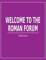 Welcome to the roman forum.pptx