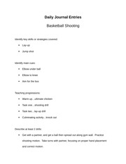 basketball shooting journal