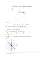 Work and Line Integrals problems study guide