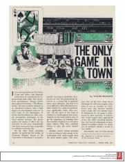 The Only Game inTown - Walter Bagehot