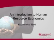 2 Section Two - An Introduction to Human Resource Economics - Winter 2015 (1)