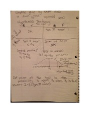 Hypothesis Testing Notes MATH 352
