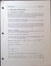 MA306 Induction and Recursion - Introduction to Induction Lecture Notes