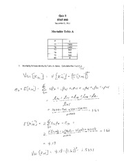 STAT 490 F11 Quiz 3 Solutions