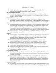Psychology-Ch.15 Notes