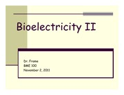 Lecture 17 Bioelectricity II