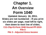 C11-Chp-01-Form 1040-Sound-PP-2010-File-3-AGI