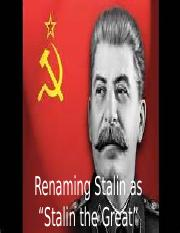 Stalin the Great'