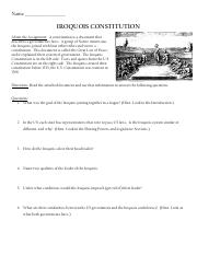 iroquios consitution worksheet