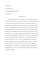 Unreported Rape Speech Research Essay