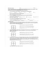 Genetics Problem Packet
